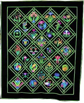 keeper quilt, art nouveau garden