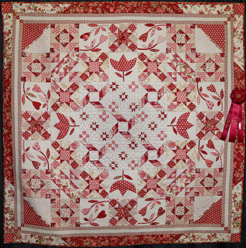 o'sew rosie by margaret wolf, artisan division two-person large pieced, dallas quilt show 2020