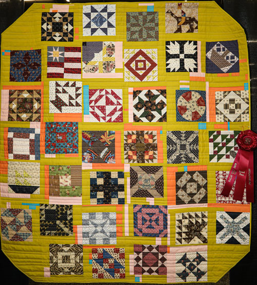 all around the brown by rachel bryan kent, artisan division two-person wall quilt, dallas quilt show 2020