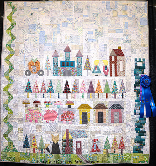 fairy tale quilt by pam dybvad, artisan division first show entry, dallas quilt show 2020