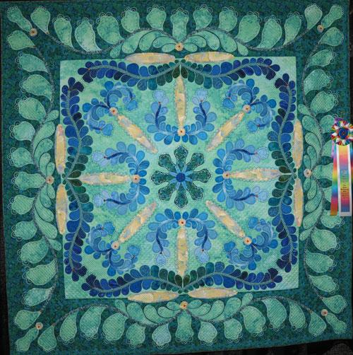 betty carpenter memorial award for overall handwork, ruffled, linda m roy, dallas quilt show 2020