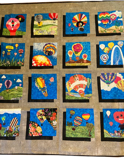 keeper quilt, hot air balloons in bloom