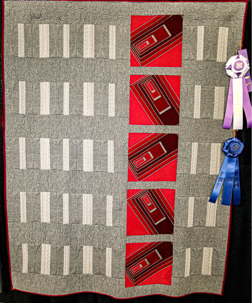 judges choice awards, wonky by lynette koelzer, dallas quilt show 2020