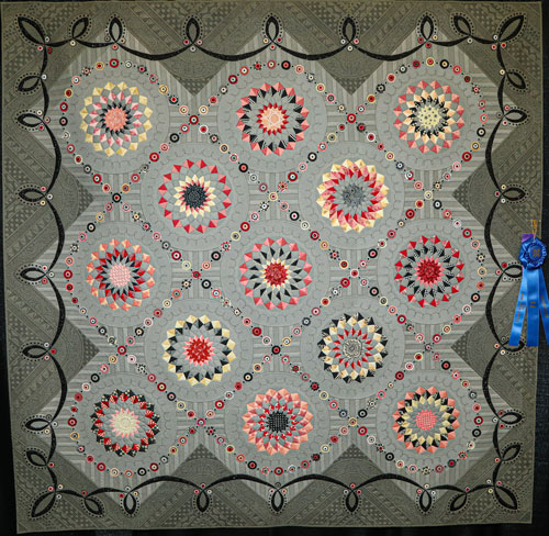 spangled by gail stepanek, master division two-person large pieced, dallas quilt show 2020