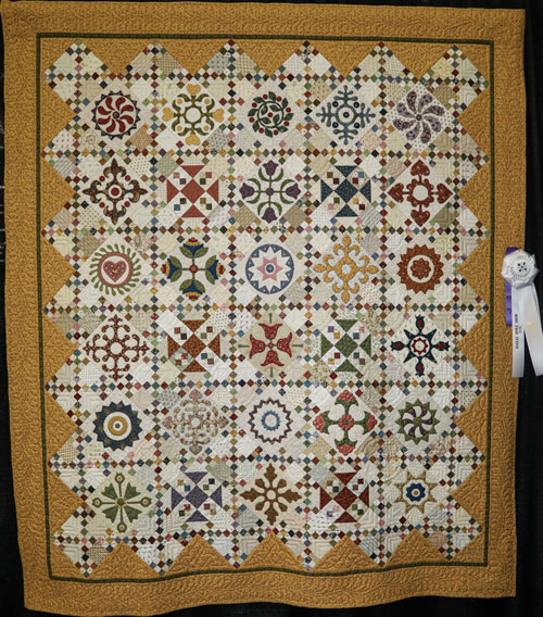 afternoon delight by bonnie moate, master division two-person large pieced, dallas quilt show 2020