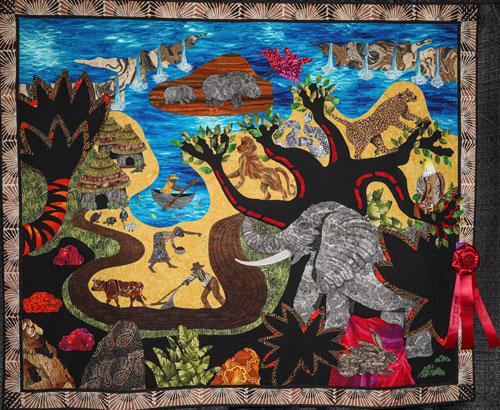 imagine zimbabwe by barbara mccraw, master division large applique, dallas quilt show 2020