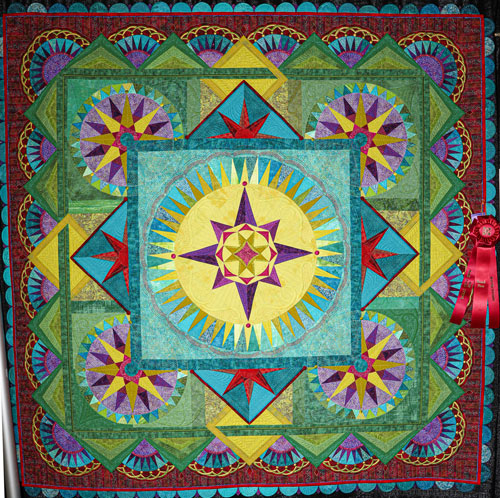 taking the unmapped road by margaret solomon gunn, master division wall quilt, dallas quilt show 2020