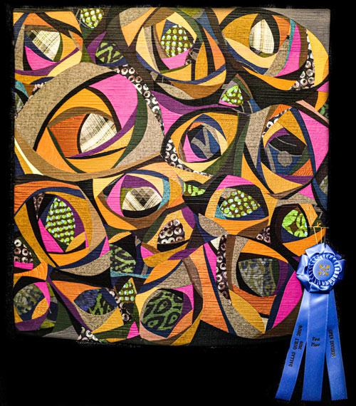 elapid by karen k stone, open division art quilts, dallas quilt show 2020