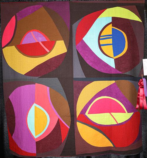 orbital plane @1 by heather pregger, open division art quilts, dallas quilt show 2020