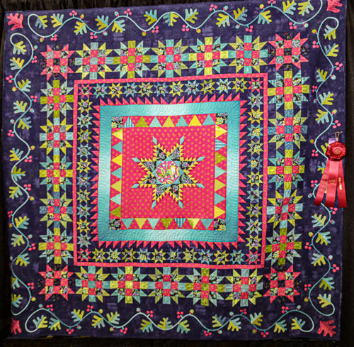 my lucky stars by jill isakson, open division group friendship, dallas quilt show 2020