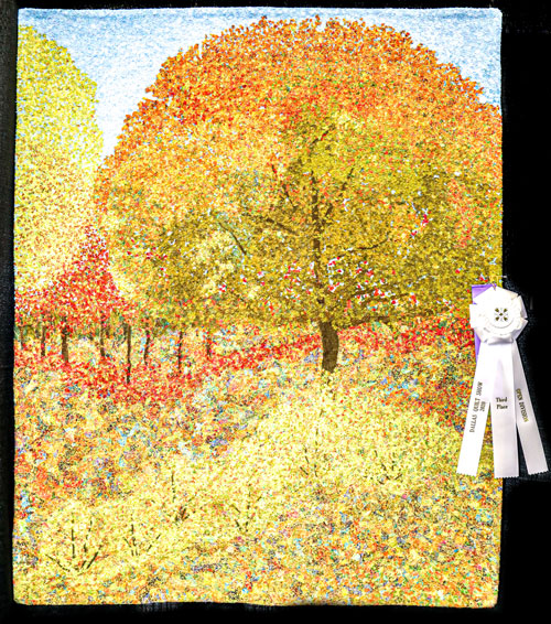 transition by barbara olivera hartman, open division pictorial quilts, dallas quilt show 2020