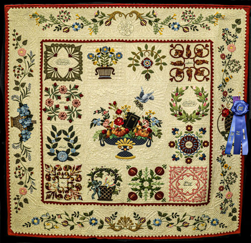 my baltimore album by sally brown, open division seniors, dallas quilt show 2020