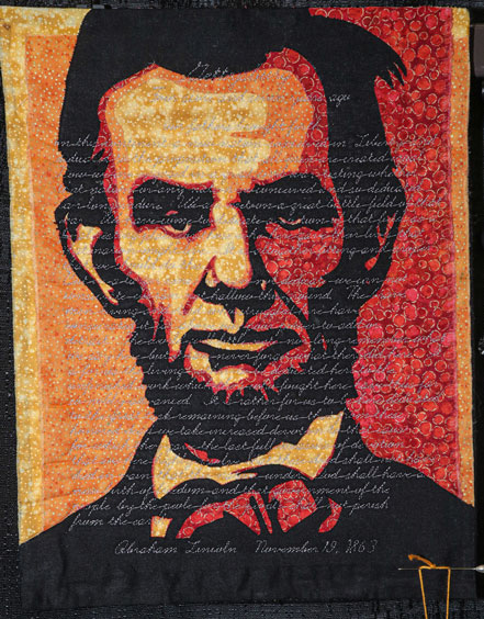 lincoln by monica hendewerk, open division small contemporary quilts, dallas quilt show 2020