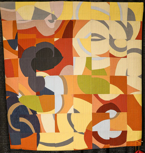 flowers on the boulevard by kerri green, open division small contemporary quilts, dallas quilt show 2020