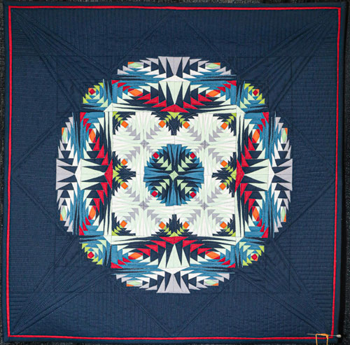 kaleidoscope by barbara y young, open division small traditional quilts, dallas quilt show 2020