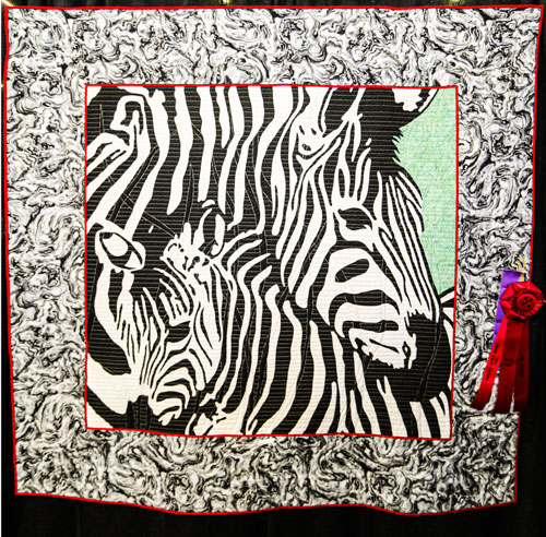 burchelli stripes by cherry freudiger, open division show chair theme, dallas quilt show 2020