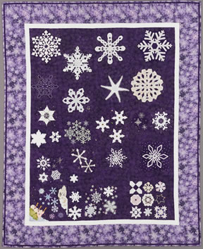 keeper quilt, snow sparkles