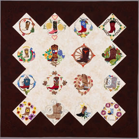 keeper quilt, texas boots, baltimore style