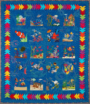 keeper quilt, under the sea
